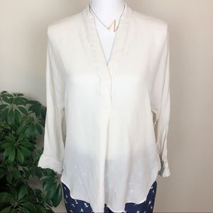Vince silk white top